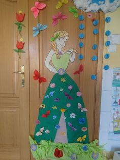 Pani wiosna jako Anna z Krainy lodu DIY