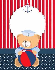 Passatempo da Ana: Kit - Ursinho Marinheiro