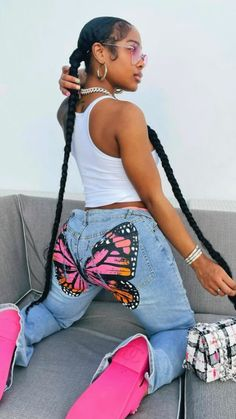 Swag Outfits For Girls, Cute Swag Outfits, Dope Outfits, Teen Fashion Outfits, Teenage Girl Outfits, Chill Outfits, Black Girl Fashion, Tomboy Fashion, Streetwear Fashion