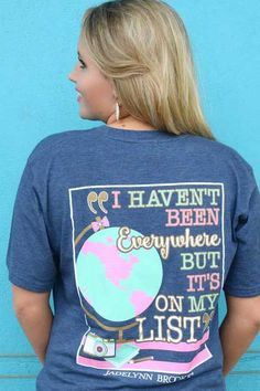 Jadelynn Brooke It's On My List Tee in Heather Navy ONMYLIST-SS