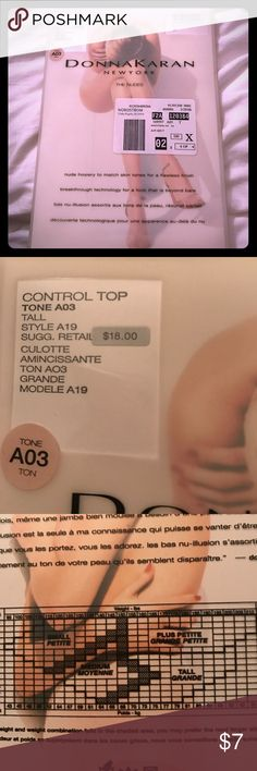 Donna Karan nude pantyhose Control top Donna Karan Accessories Hosiery & Socks