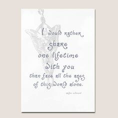 Lord of the Rings quote anniversary valentine card-PDF. $1.99, via Etsy.