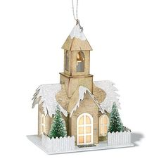 """Church Light-Up Ornament 