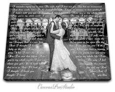 Anniversary day gift First Dance Lyrics Picture with Wedding Vows Gift Wedding Vows Canvas Wedding Anniversary Wife for Husband Gift Anniversary Gifts For Husband, Wedding Anniversary Gifts, Anniversary Pictures, Anniversary Ideas, First Dance Lyrics, Song Lyrics, Wedding Day Gifts, Wedding Ideas, Wedding Stuff