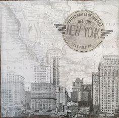 2 single paper Napkins Servietten Decoupage Collection New York Black and White