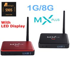 >> Click to Buy << MX Plus II Android TV Box Quad Core Amlogic S905 1G/8G ROM Smart TV Box LED display KODI 14.2 full loaded Airplay APK & ADD-ONS #Affiliate