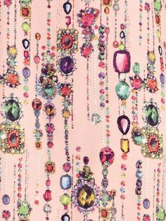 Dahlia Bethany Pink Jewel Print