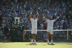 Three times a runner-up, Horia Tecau teams up with Jean-Julien Rojer to win the Men's doubles. Wimbledon 2015