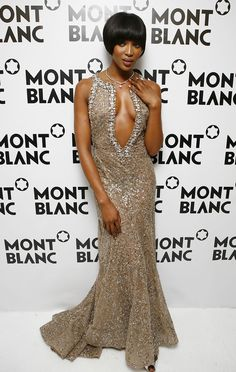 Model Naomi Campbell attends the Montblanc Night Of The Stars gala February 2, 2007 in Chamonix, France.