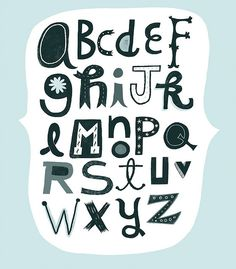 alphabet by linzie hunter #alphabet, #lettering, #font, #design, #illustration