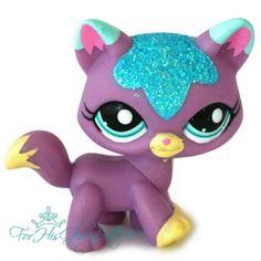 ✵Littlest Pet Shop✵2386✵LILAC PURPLE BLUE SPARKLE GLITTER KITTEN KITTY CAT✵TABBY