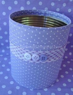 Tin can Mais Aluminum Can Crafts, Tin Can Crafts, Fun Crafts, Diy And Crafts, Arts And Crafts, Paper Crafts, Recycle Cans, Diy Cans, Recycled Tin Cans