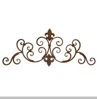 Wrought Iron Wall Decor Swag 24 X 0 75 9 19 95