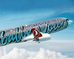 Branded Airplane-Adorned Employee Appreciation - The Turkish Airlines Plane Skin is a Mosaic of Staff Faces