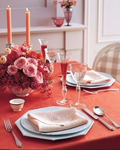 Tons Of Almost Every Kind Of Valentine's Day Menus And Recipes From Martha Stewart + Gift & Crafts How To's. Happy Valentine's Day <3