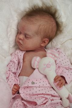 Reborn Baby Doll Rebornbaby Girl mono rooted hair Coco by Natali Blick