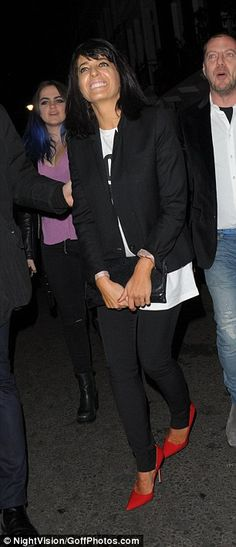 Early night: Strictly host Claudia Winkleman was spotted heading home for the evening. Claudia Winkleman, Feel Good Food, Work Wardrobe, Lbd, Capricorn, Pixie, Night Out, Style Me, Vogue