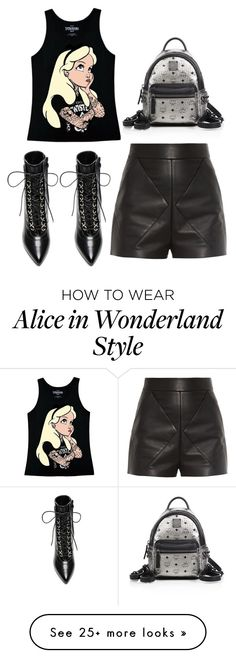 """""""Edgy"""" by ladiistaff on Polyvore featuring MCM, Disney, Balenciaga and Yves Saint Laurent"""