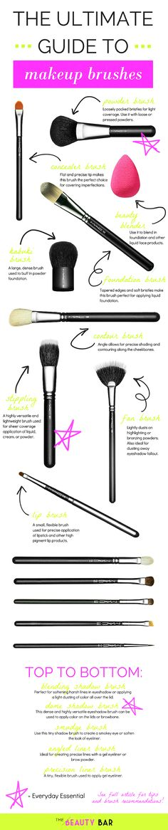 The Beauty Bar: Makeup Brush 101 Source by saralevron Tools All Things Beauty, Beauty Make Up, Diy Beauty, Beauty Hacks, Beauty Ideas, Makeup Tools, Makeup Brushes, Sephora, Make Up Tricks