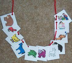 Brown Bear, Brown Bear Activities i. Retelling Necklace Photo- Unit of study Preschool Colors, Kindergarten Literacy, Early Literacy, Literacy Activities, Toddler Activities, Preschool Activities, Brown Bear Activities, Emergent Literacy, Teaching Colors