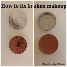 How to fix broken makeup Fix Broken Makeup, Coffee Break, Makeup Tips, Beauty, Make Up Tips, Beauty Illustration, Coffee Time, Makeup Tricks, Make Up Tricks