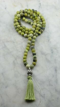 Tender_Shoots_Mala_108_Yellow_Turquoise_Mala_Beads