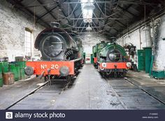 Steam Trains In Shed At Tanfield Railway, The Oldest Railway In The Stock Photo, Royalty Free Image: 86714248 - Alamy