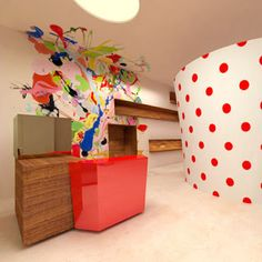 Fashion store in Tokyo designed by the inventive Sergio Calatroni, visit his site if you dare, quite a challenge but great fun. A bit of contrast to the usual corporate desks we have displayed but had to include it for his abstract take on this functional piece of furniture.