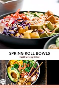 Tofu Dinner Recipes, Vegan Dinners, Asian Tofu Recipes, Easy Dinners, Chicken Recipes, Healthy Spring Recipes, Healthy Vegan Recipes, Vegan Spring Rolls, Healthy Meal Prep