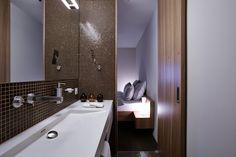 Bellevue Parkhotel & Spa in Adelboden, Switzerland Bed Bar, Contemporary Design, Modern Design, Adelboden, Switzerland Hotels, Hotel Meeting, White Building, Parquet Flooring, Boutique Design