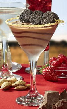 Campfire S'mores Martini Ingredients: · 2 oz SKYY Vodka · 1 oz Monin Toasted Marshmallow (4 pumps) · 1 oz Hershey's Chocolate Syrup · 1 oz Half & Half