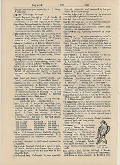 Free Printable Vintage Dictionary Page
