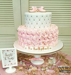 Baby shower cake pink and gold baby girl cake rochester wedding cakes girl shower cake, Girl Shower Cake, Baby Girl Shower Themes, Girl Baby Shower Decorations, Baby Shower Princess, Baby Shower Cake For Girls, Baby Shower Cakes Pink, Princess Theme, Tortas Baby Shower Niña, Gateau Baby Shower