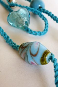 Franciens haakwerk: Necklace... my favorite beads and color