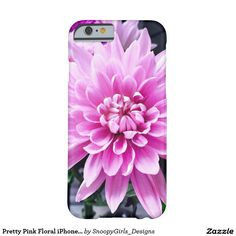 Pretty Pink Floral iPhone 6 Case
