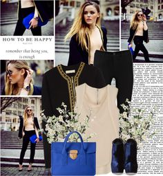 """""""blue and blue"""" by shinystar on Polyvore"""