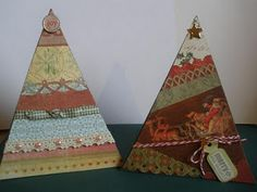 Christmas Tree Cards - template included
