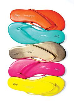 457daf0ef02f Colourful flip-flops from Gap. Turn your feet into eye candy with colourful  flip