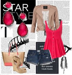"""""""Popping Pink"""" by xxtishuxx on Polyvore"""