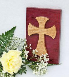 Wood Wall Cross, Decorative Cross, Cross Wall Decor, Purple Cross, Celtic Wall…