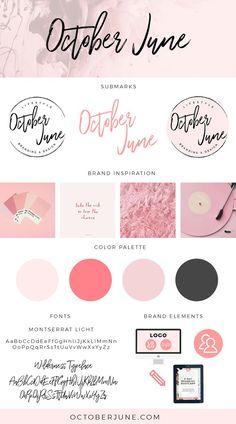 Brand Identity Design: October June Studio via Brand Identity Design, Branding Design, Logo Design, Instagram Feed, Boutique Logo, Brand Style Guide, Brand Board, Fashion Branding, Graphic Design Inspiration