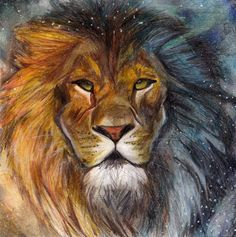 The Chronicles of Narnia - Aslan looks wonderful in this picture! I want this painted on my wall in my room!