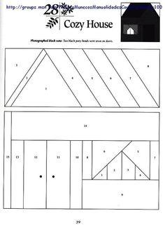 Cozy house quilt block pattern - Picasa Web Album