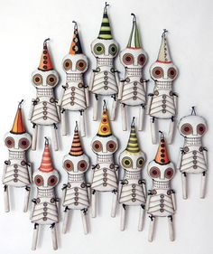 Day of the Dead Skeleton Doll Ornament by CartBeforeTheHorse
