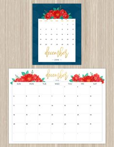 Printable Calendars for a More Floral 2016 - Fresh by FTD                                                                                                                                                                                 More