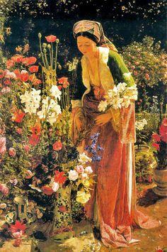 John Frederick Lewis - In the Bey's Garden, Asia Minor