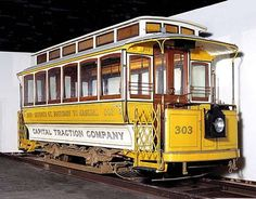 Capital Traction Company's 7th St. line streetcar now at the Smithsonian.