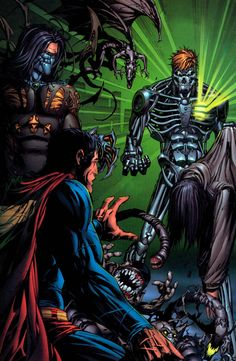 Superman/Darkness Crossover art feat. 'Teminator-look' Metallo by Marc Silvestri! (DC & Image/Top Cow comics)