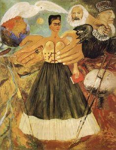Frida Kahlo. El marxismo dará salud a los enfermos es una pintura de Frida Kahlo de 1954 pintado en óleo sobre masonita. Se encuentra en el Museo Frida Kahlo, también conocido como La Casa Azul