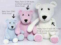 Heart & Sew: The Three Bears - Free Crochet / Amigurumi Pattern